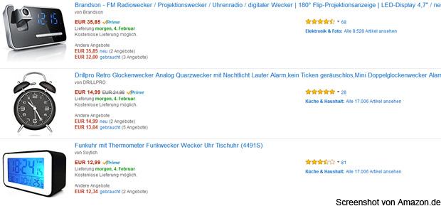 Wecker kaufen geht bei Amazon am einfachsten. Marken wie Seiko, Braun und Hama sind genauso wie viele andere vertreten. Funkwecker, Projektionswecker, LCD und analog: die Auswahl ist riesig. Wecker online bestellen.