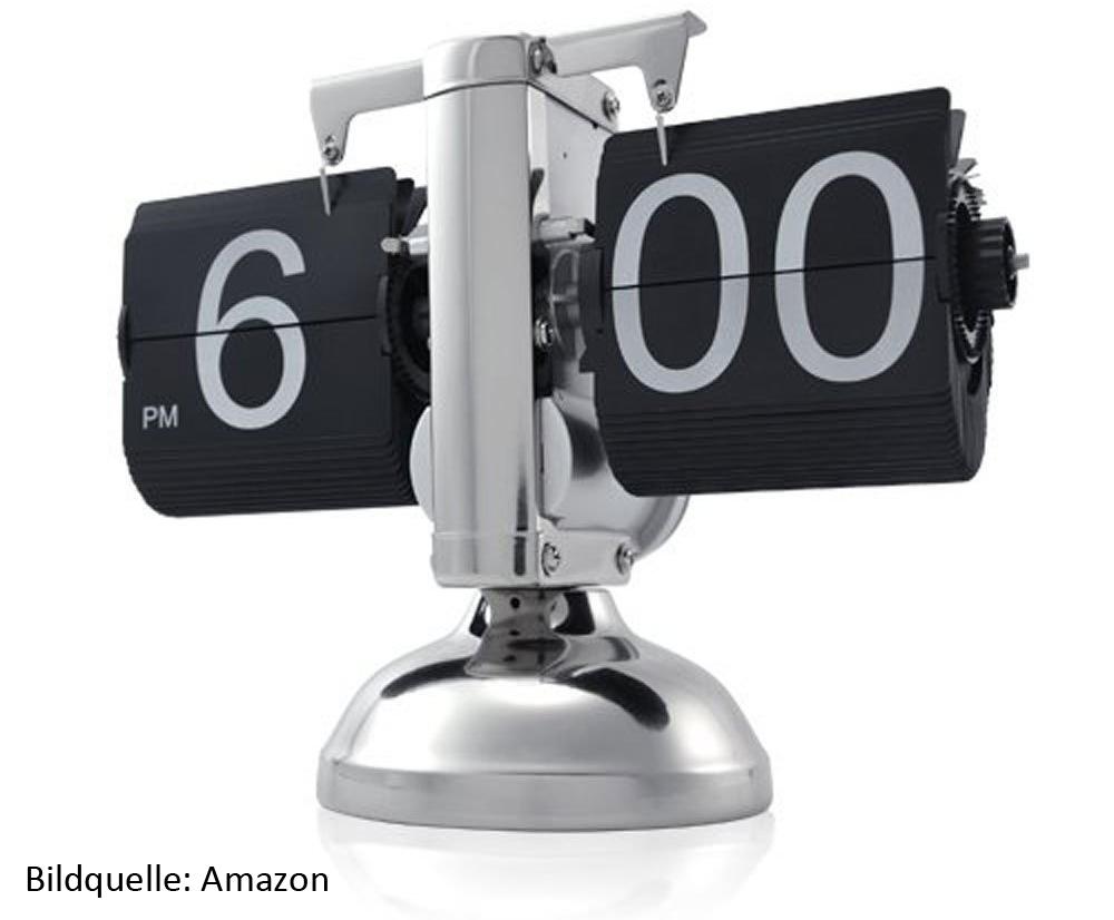 Klappzahlenuhr, Uhr mit herunter klappenden Zahlen online kaufen. Wie heißen die Uhren aus US Filmen?