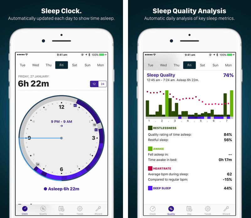 Mit der App AutoSleep macht man aus seinem iPhone und der Apple Watch einen Schlaftracker, der automatisch den Beginn und das Ende des Schlafes erkennt.